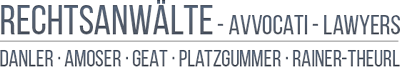 Rechtsanwälte – avvocati – lawyers Logo